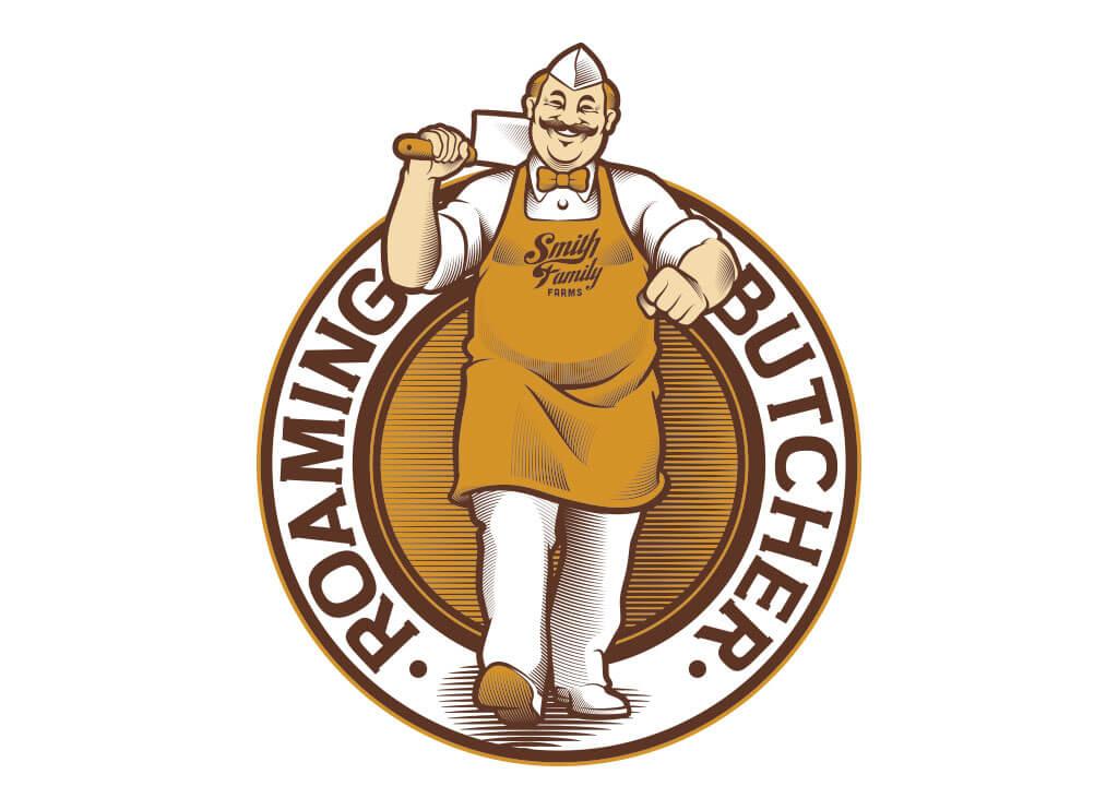 The Roaming Butcher Logo